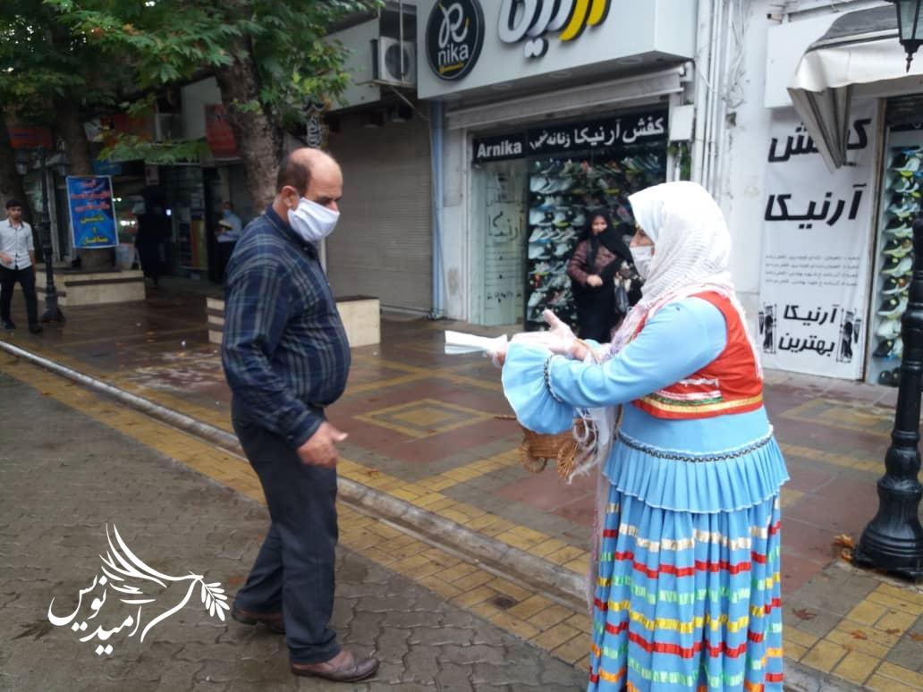 توزیع ماسک توسط اداره میراث فرهنگی در سطح شهر لاهیجان/گزارش تصویری